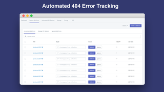 Automated 404 Error Tracking_Broken Link Manager