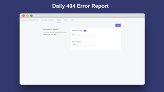 Daily 404 Error Report_Broken Link Manager