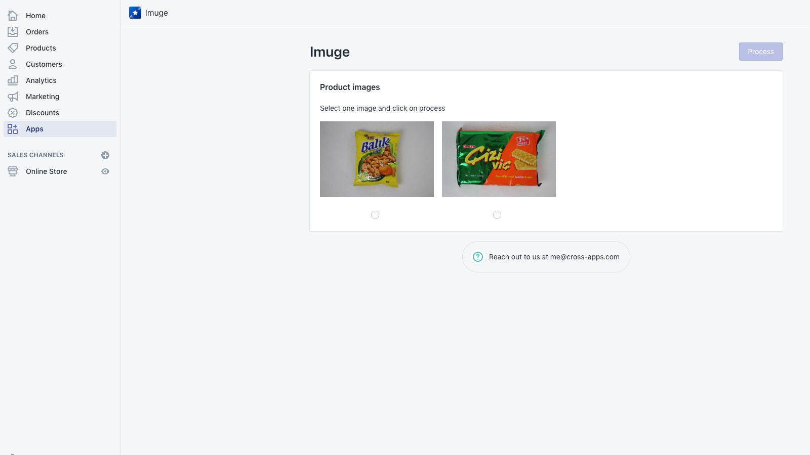 Easy to use user interface for selecting image