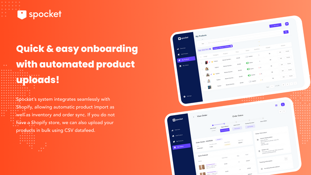Quick & easy onboarding with automated product uploads!