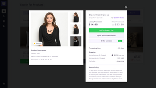 Share product images and information easily