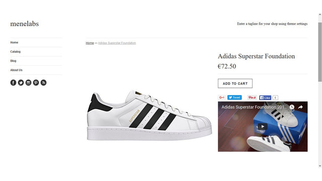 Displaying a video in the product page