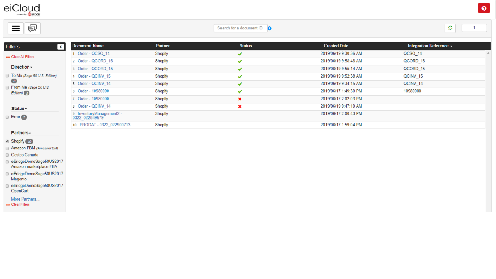 View the status of transactions, anywhere