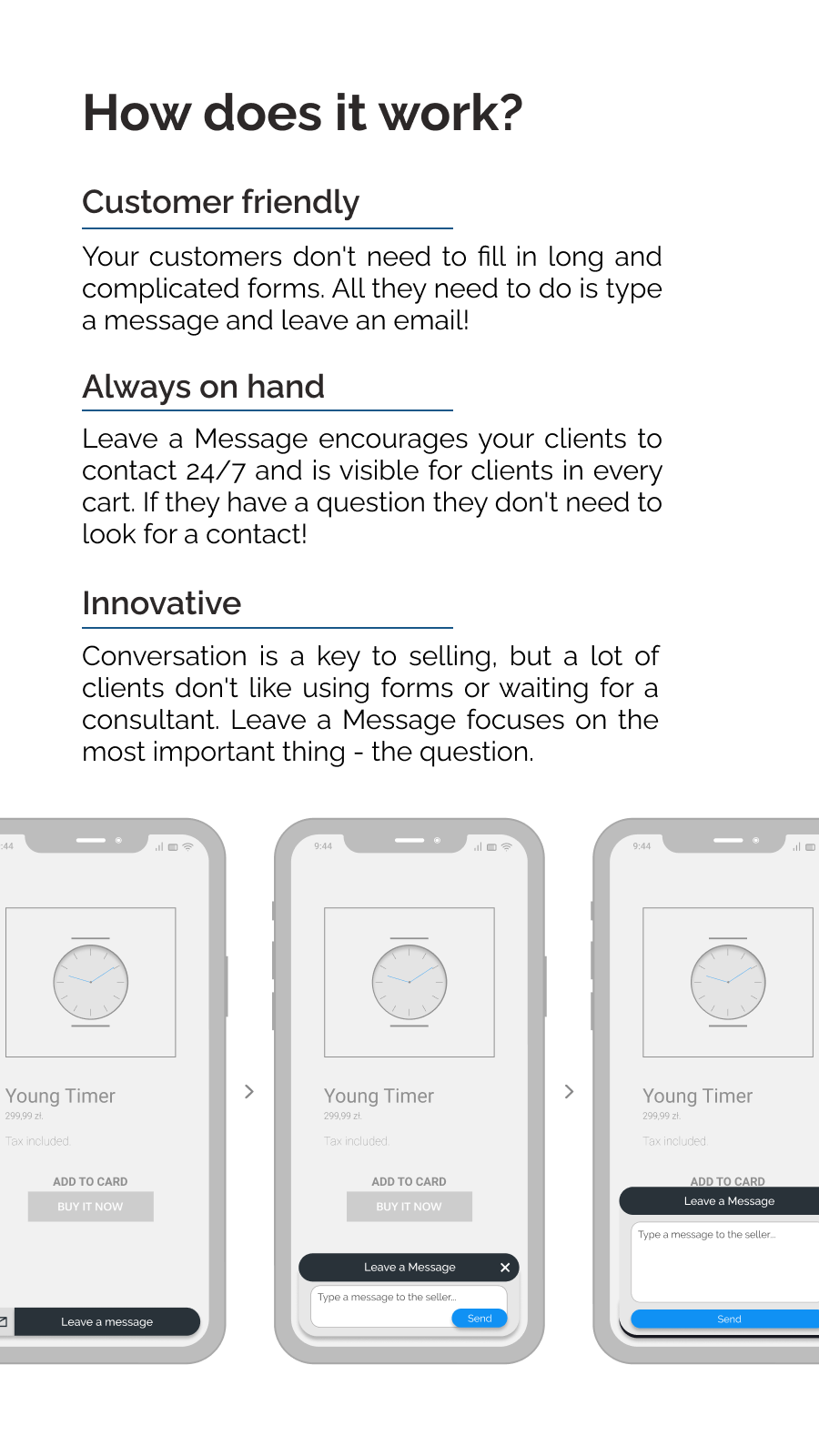 Short explanation why app is innovative and customer friendly