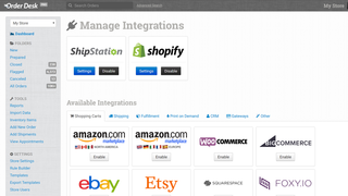 Order Desk integrations.