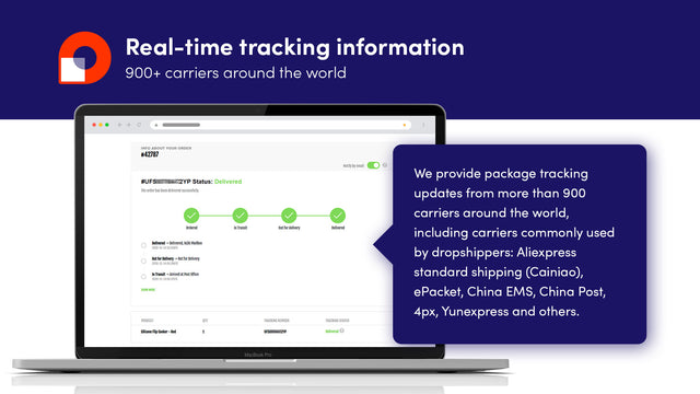 Tracking information on laptop screen