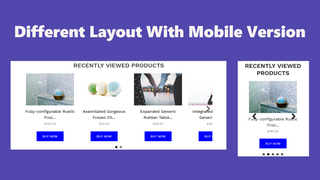 Different layout with mobile version