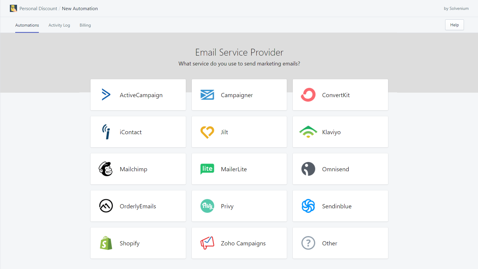 Select Email Marketing Service