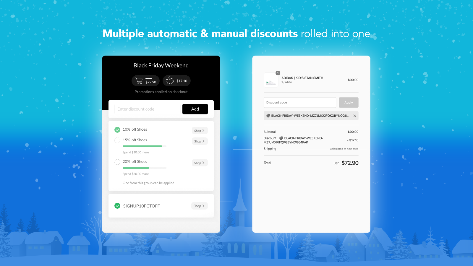 Multiple discounts automatically applied