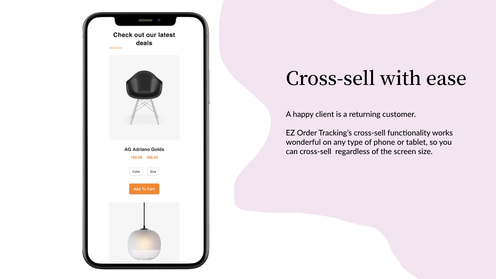 EZ Order Tracking Cross sell features