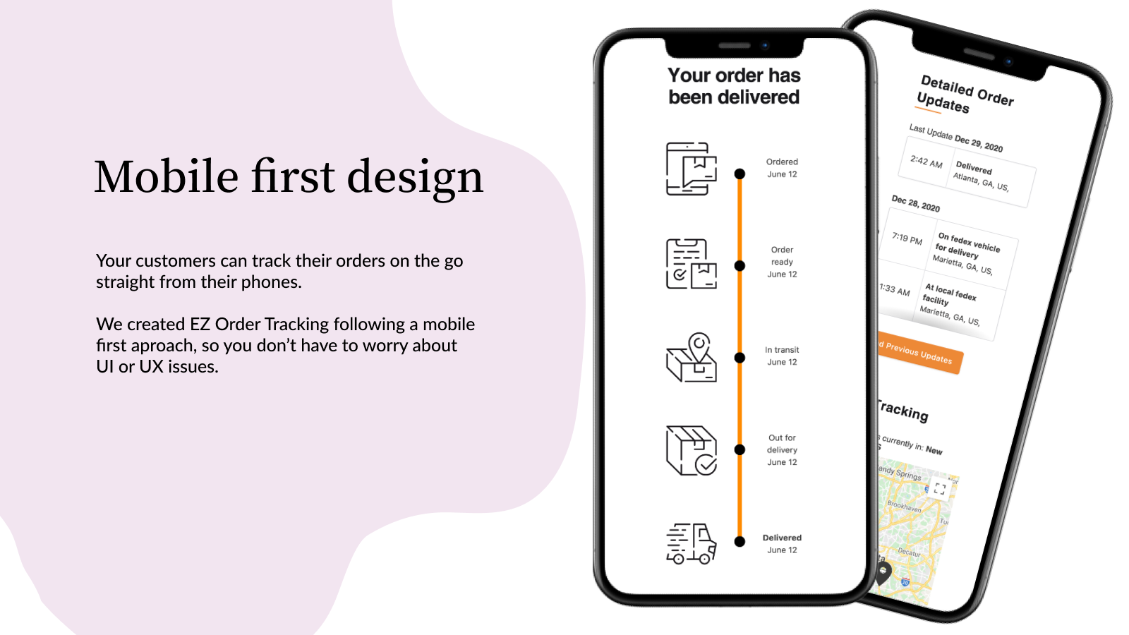 EZ Order Tracking Front End Tracking Pages