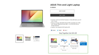 Product bundles displayed under product page