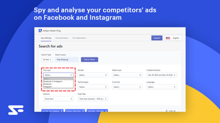 spy and analyse your competitors ads on Facebook and Instagram