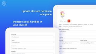 Add your shop details, logo and social media handles for better