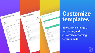Select our custom PDF templates or create your own