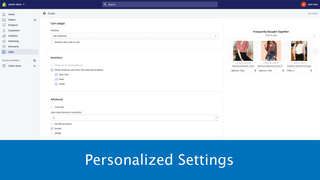 Upsell with Personalized Settings