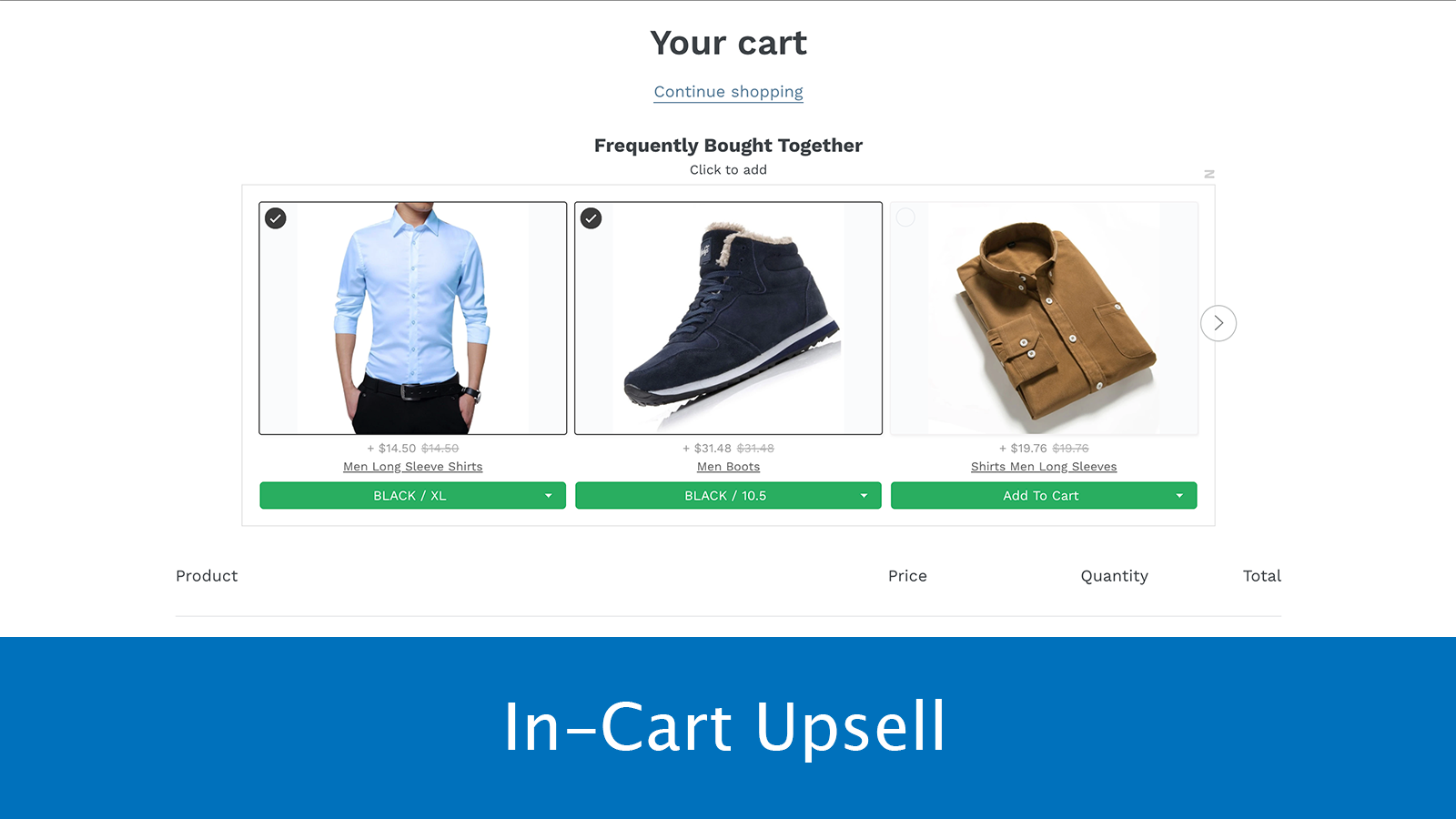 In-Cart Upsell
