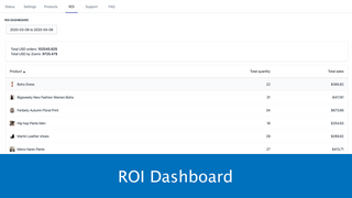 Upsell with ROI Dashboard