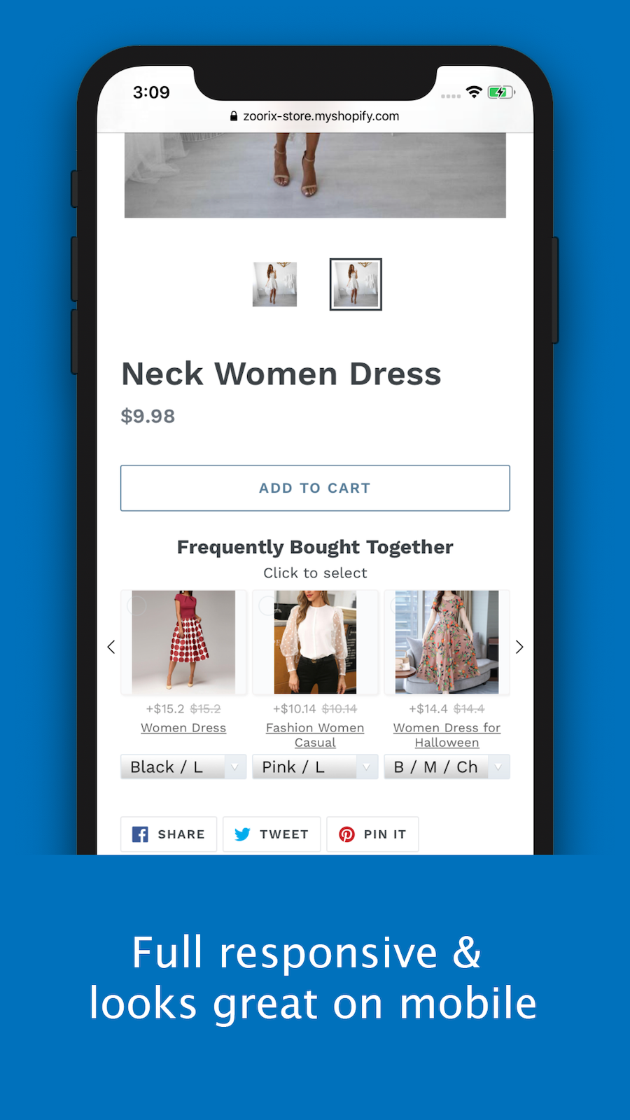 Upsell with Full responsive and looks great on mobile devices