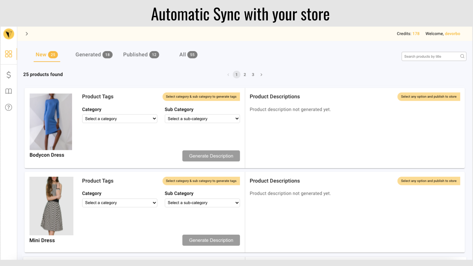 automatic sync with store