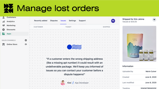 Manage lost orders reported by carriers to avoid chargebacks