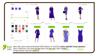 Visual search. Search by real colors from photos