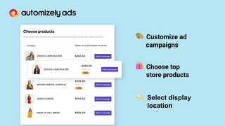Choose top store products for your ad campaign