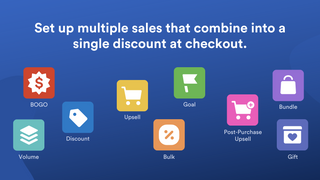 Set up multiple sales that combine into a single discount code