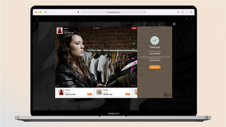 Live Shopping Desktop Embed View - Checkout