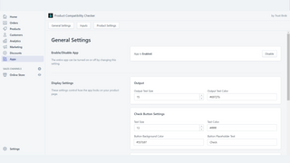 Product Compatibility Checker General Settings Embedded