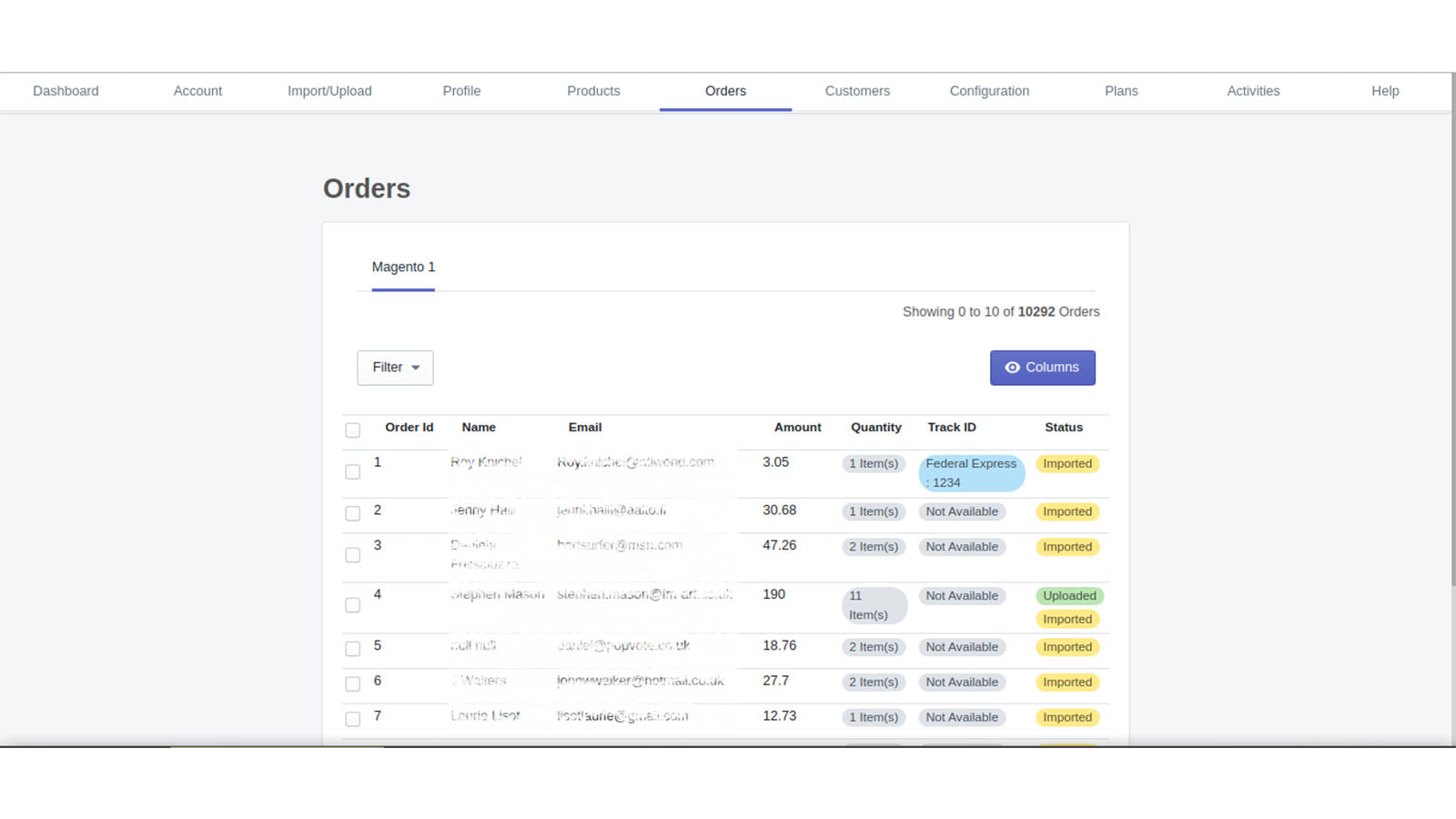 Order Grid Magento1 to Shopify , Magento 2 to Shopify