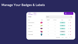 Boostify - Product Labels - Badge List