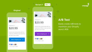 A Crazy Egg A/B Test in action