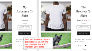 Test two versions of your product so you can find that changes t