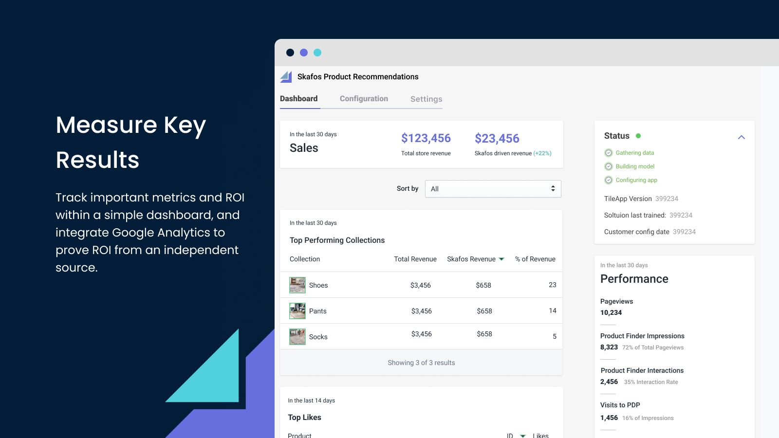 Track key results and measure ROI