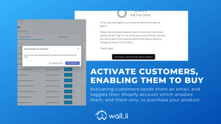 Easily bulk activate customers when you are ready to launch.