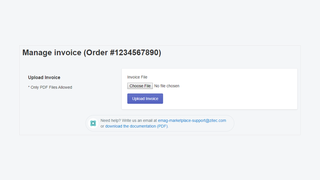 Manage invoices from your Shopify account
