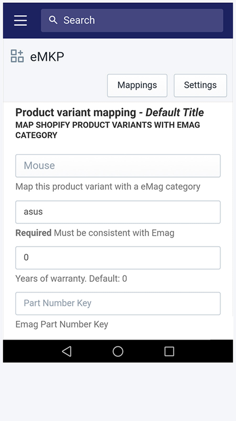 Product variant mapping