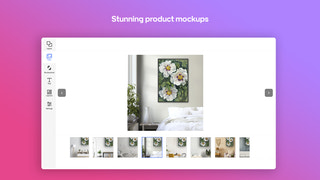 Craft beautiful designs and mockups for your store