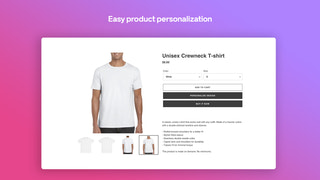 Easy product personalization