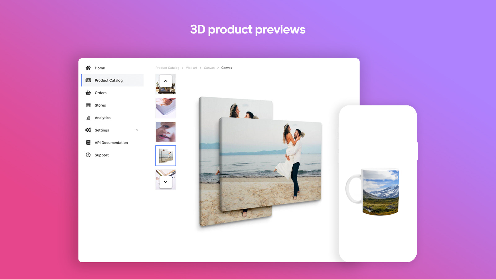Preview your products in 3D