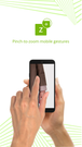 Pinch-to-zoom gestures supported on mobile devices