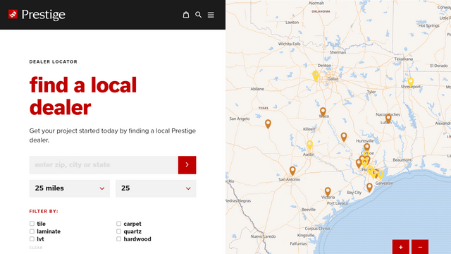 Easily styled map on your store   Store Locator   W3Trends