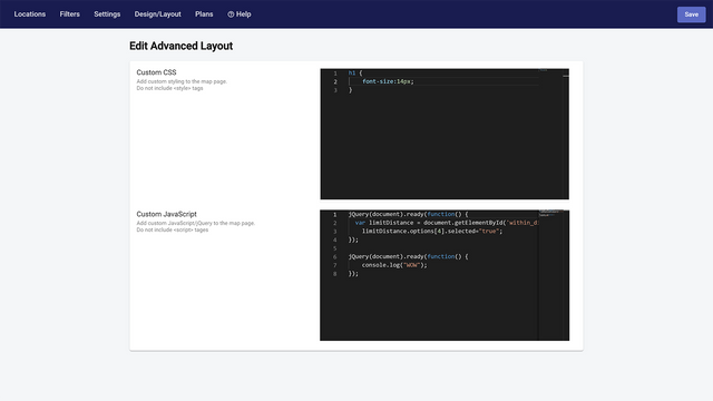 Advanced configuration with CSS & JS   Store Locator   W3Trends
