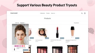 Support Various Beauty Product Try