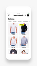 Merch.Music Catalog to quickly browse or search products