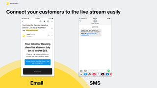 Connect your customers to the live stream easily