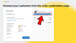 Connect your customers from the order confirmation page