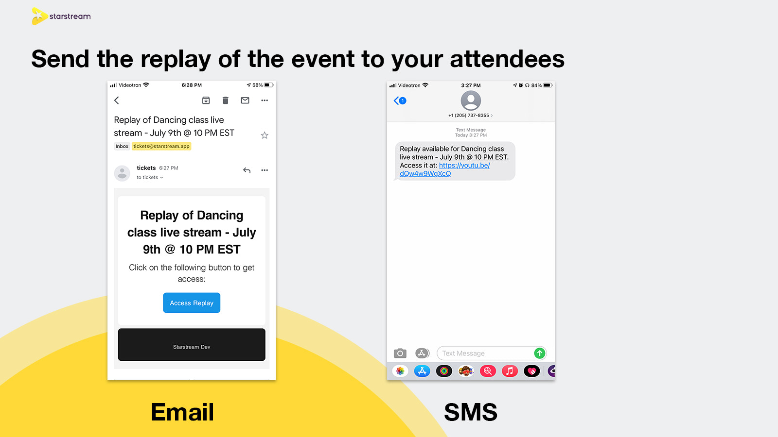 Send the replay of the event to your attendees