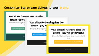 Customize Starstream emails to your brand